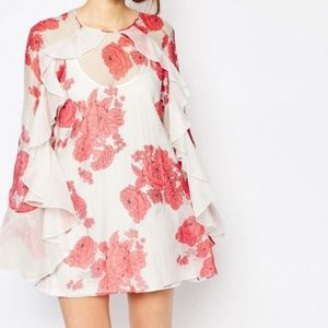 Alice McCall 0 XS Delilah Mini Dress Floral Ruffle